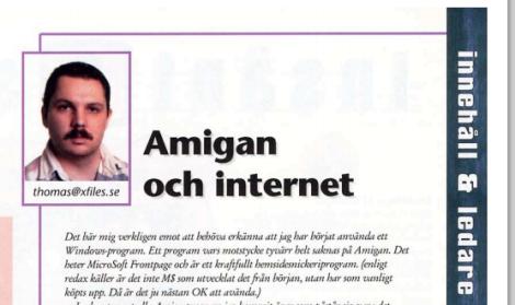 Thomas ledare i AmigaInfo #15 1997.