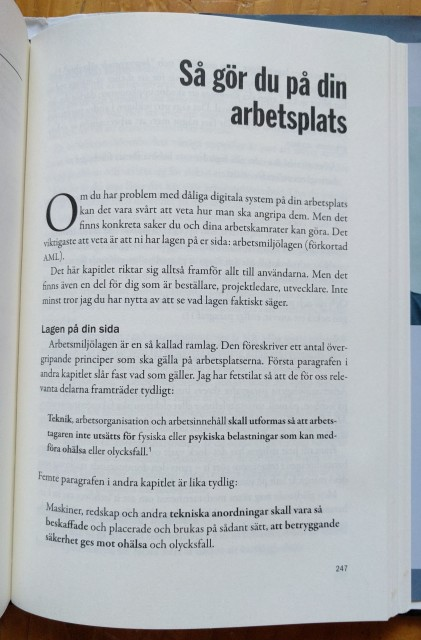 Jävla Skitsystem! om arbetsmiljölagen
